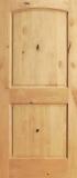 Wood Entry Doors - Interior Doors - Interior 2 Panel Knotty Alder Wood Door