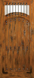 Doors - Wood Entry Doors - Western Plank Wood Door with Grill