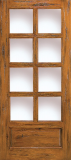 Doors - Wood Entry Doors - Western Wood Door with 8 Lites