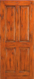 Wood Entry Doors - Western 4 Panel Wood Door - Western 4 Panel Wood Door