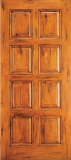 Wood Entry Doors - Western 8 Panel Wood Door  - Western 8 Panel Wood Door