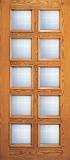 Wood Entry Doors - Entry Wood Door with 10 Lites  - Entry Wood Door with 10 Lites