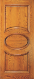 Wood Entry Doors - Entry 2 Panel Wood Door with Oval Design - Entry 2 Panel Wood Door with Oval Design