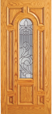 Wood Entry Doors - Entry Wood Door with Lite  - Entry Wood Door with Lite