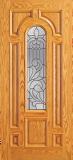 Wood Entry Doors - Entry Wood Door with Lite  - Entry Wood Door with Lite