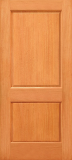 Doors - Wood Entry Doors - Budget 2 Panel Wood Door