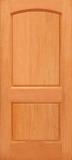 Doors - Wood Entry Doors - Budget 2 Panel Wood Door with Arched Top