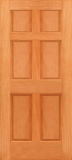 Doors - Wood Entry Doors - Budget 6 Panel Wood Door
