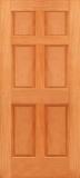 Budget 6 Panel Wood Door