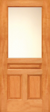 Doors - Wood Entry Doors - Budget Wood Door with 1 Lite