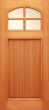 Doors - Wood Entry Doors - Budget Wood Door with 4 Lites