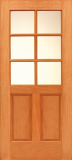 Doors - Wood Entry Doors - Budget Wood Door with 6 Lites
