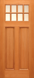 Doors - Wood Entry Doors - Budget Wood Door with 8 Lites