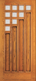 Wood Entry Doors - Entry 4 Panel Wood Door with 10 Mini Lites - Entry 4 Panel Wood Door with 10 Mini Lites