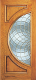 Wood Entry Doors - Entry 2 Panel Wood Door with Half Circle Lite - Entry 2 Panel Wood Door with Half Circle Lite