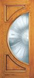 Wood Entry Doors - Entry 2 Panel Wood Door with Half Circle Lite 2 - Entry 2 Panel Wood Door with Half Circle Lite 2