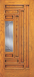 Wood Entry Doors - Entry 9 Panel Wood Door with Lite - Entry 9 Panel Wood Door with Lite
