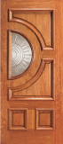 Wood Entry Doors - Entry Half Circle Glass 4 Panel Wood Door 2  - Entry Half Circle Glass 4 Panel Wood Door 2