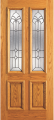 Doors - Wood Entry Doors - Entry 2 Panel Wood Door with 2 Lites 2