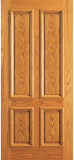 Wood Entry Doors - Entry 4 Plain Panel Wood Door - Entry 4 Plain Panel Wood Door