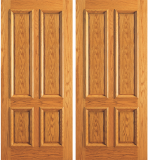 Entry 4 Plain Panel Wood Double Door