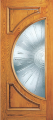 Doors - Wood Entry Doors - Entry 2 Panel Wood Door with Half Circle Lite 2