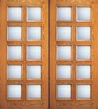 Entry Wood Double Door with 10 Lites