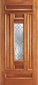 Doors - Wood Entry Doors - Entry 6 Panel Wood Door with Lite