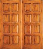 Western 8 Panel Wood Double Door