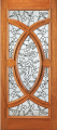 Doors - Wood Entry Doors - Entry Wood Door with Floral Design